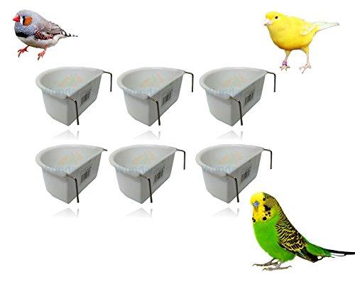 WUNDAPETS * Nouveau * Lot DE 6 7.5cm en Plastique Bird perruches Cage à Suspendre Mangeoire Gamelle