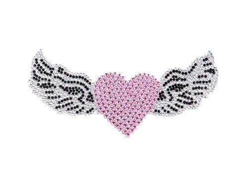 Himmlische Engel Flügel mit rosa Kristall Herz Gem Kfz, Lkw und SUV, Home Office Fenster Aufkleber Haften Bling