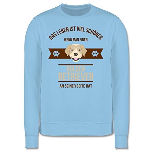 Hunde - Das Leben ist viel schöner wenn man einen Golden Retriever an seiner Seite hat - Herren Premium Pullover Hellblau