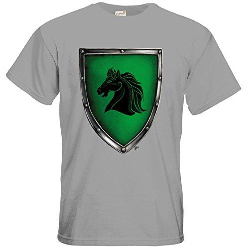 getshirts - Das Schwarze Auge - T-Shirt - Die streitenden Königreiche - Wappen Teshkal pacific grey