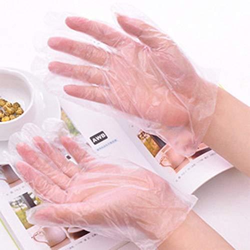Einweg-Handschuhe für die Zubereitung von Lebensmitteln lebensmittelecht Einweg-Handschuhe zur Handhabung von Lebensmitteln Transparente Schönheit Hygienehandschuhe für die Haushaltsführung