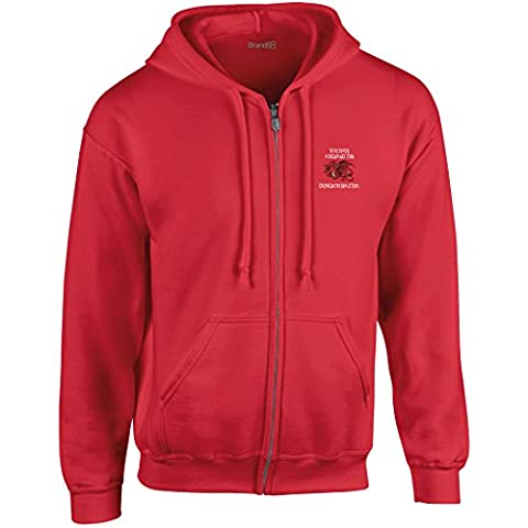 You Have Angered The Dungeon Master, Full Zip Hooded Sweatshirt - Red 3XL (54-56