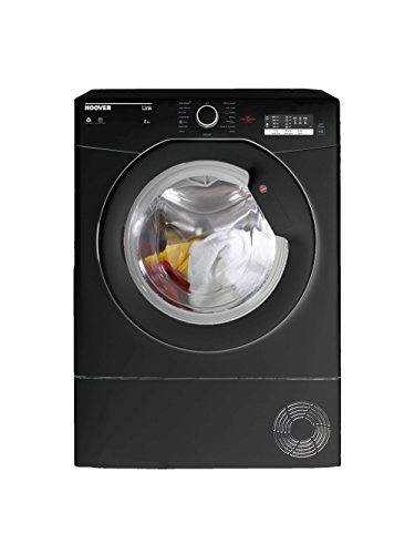 Hoover HLC8LGB-80 B Rated 8kg 4 Temps Condenser Tumble Dryer with Timer in Black