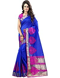 Sarees For Women Party Wear Offer Designer Sarees New Collection Sale Buy In Low Price Blue Color Poly Cotton...
