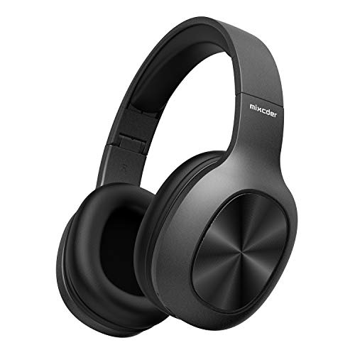 Protein Lassen (Mixcder HD901 Bluetooth Kopfhörer, over Ear Kopfhörer mit Mikrofon, Kabellose Kopfhörer Hi-Fi Stereo mit Protein-Ohrpolsters, TF Karte, Drahtlos Headset mit Tifem Bass, Schwarz)