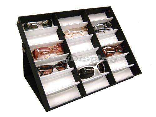 (su-18a) Sonnenbrille Display, Eyewear Eye Wear Display bis zu 18Gläser, W/TRAY Fall Ständer ('w-arbeitsplatte)