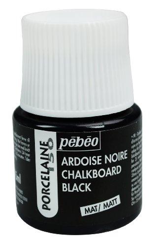 Pebeo 1-teilig, 45 ml Pebeo Porcelaine 150 China Farbe, 45 ml Flasche, Tafel schwarz