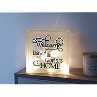 """Lámpara personalizada """"Welcome Home"""""""