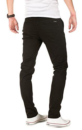 PITTMAN Herren Chino Hose Type - Slim Fit - Chinohose gemustert Schwarz (Black 194008)