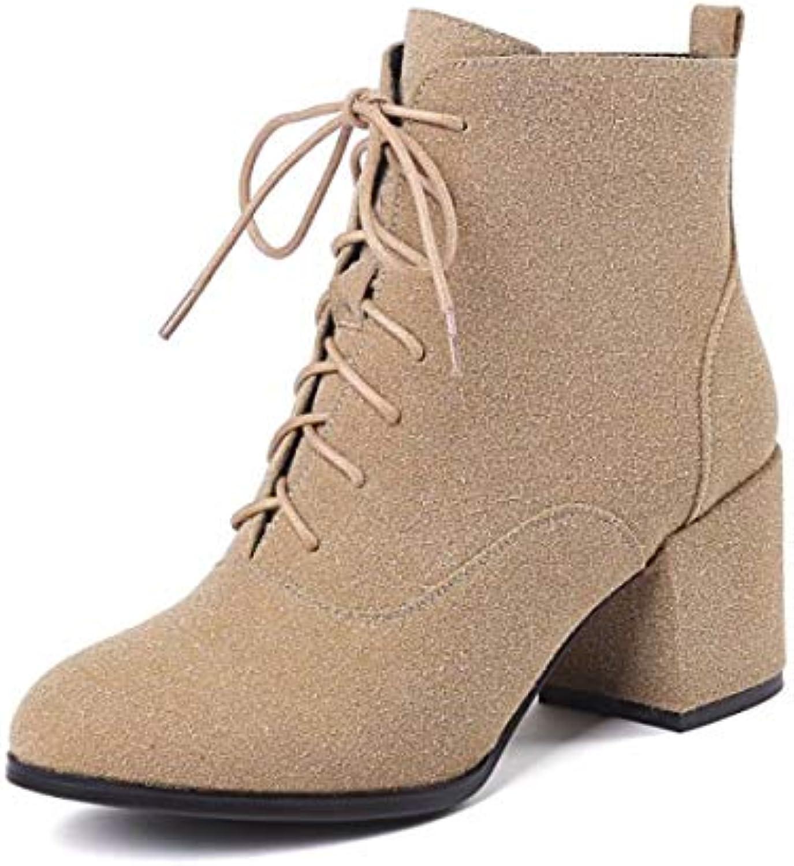 GTVERNH Chaussures Femmes/Talon Bottes Bien Martin des Bottes Femmes/Talon des Bottes pour Femmes mais Peu 7Cm Au Milieu des Talons...B07HX1LZHXParent 173ed7
