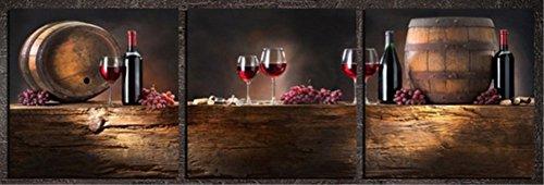 obella New Top Art Wand Leinwand Drucke 3Stück || rot Wein || modernes Poster Öl Gemälde Prints und Bilder Foto Bild Wall Art Prints auf Leinwand painting für Home Schlafzimmer (Rapper Kit Retro)