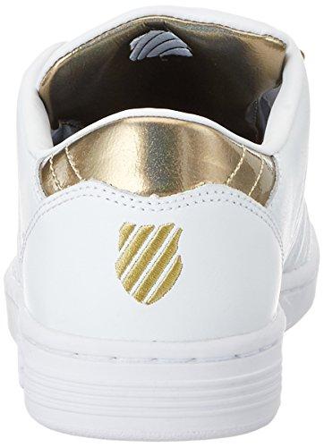 K-Swiss Lozan Iii Tt Mtllc, Scarpe da Ginnastica Basse Donna Bianco (Whitel/gold)