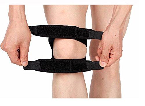 HXI Knie-Klammer, Knie-Patella-Bügel-Unterstützung für Läufer und Jumper, justierbare Knie-Band-Klammer für das Laufen, das Springen, Basketball, im Freiensport oder Knie-Schmerz-Entlastung - Schmerzen Im Knie Band
