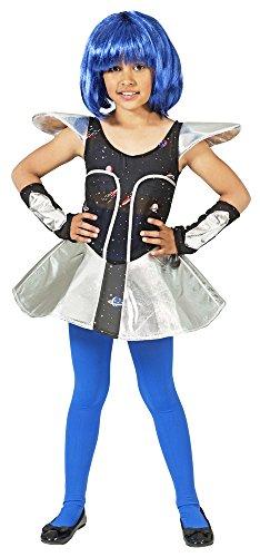 Space Girl Leia Kostüm für Mädchen Gr. 128 (Krieger Mädchen Kostüm)