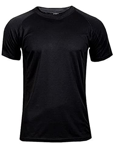 Mens T Shirt Breathable Wicking Cool Dry Running Gym Top