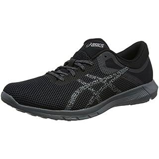 ASICS Men's's Nitrofuze 2 Competition Running Shoes Grey Black/Carbon 9790, 12 UK