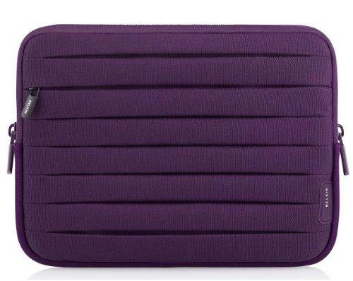 Belkin Plissee-Schutzhülle dehnbares Staufach (24,6 cm (9,7 Zoll, geeignet für Galaxy Tab 2 und 3, iPad 2nd, 3rd 4rd Gen.) lila