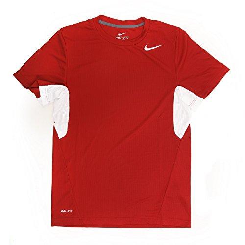 Nike pour Homme Vapor Rouge/Blanc Dri-Fit Tee Shirt–X...