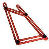 ONEVER Vierseitige Lineal, Leichtklapplineal Lab Messlineal, Easy Winkel Lineal DIY Tools