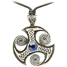 zoelibat 97207341.112–Gothic Punk colgante, amuleto Diseño Celta, piedra, 4x 4cm), color azul