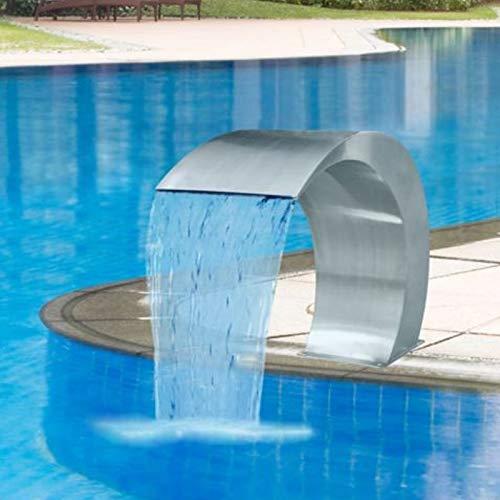 Wchaoen Edelstahl-Pool-Akzent-Brunnen-Teich-Garten-Swimmingpool-Wasserfall kennzeichnen dekorative Hardware Werkzeugzubehör - 400 Dekorative Akzente