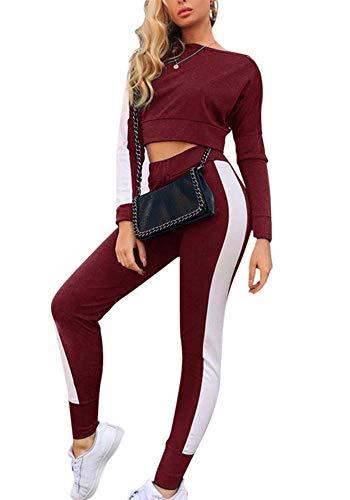 Missoul Laufhose Damen mit Tasche lang - Leggins Stretch-Hose Lauf-Tights für Smartphone Handy Schlüssel Yoga