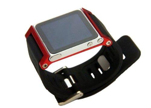 ZSTX Multi-Touch Aluminium-Armband Tasche für Apple iPod nano 6. Generation 8GB 16GB (OEM) (Rot)