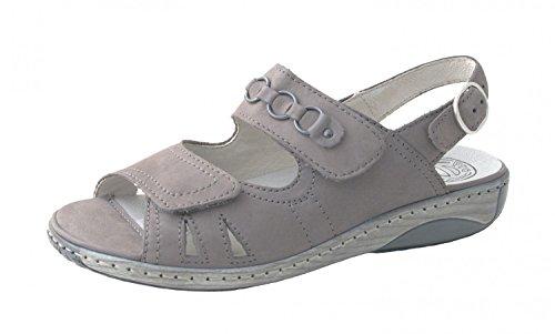 Waldläufer210004-191-088 - Scarpe con cinturino alla caviglia Donna Grigio (grigio)
