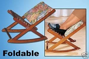 Repose jambe en bois pliable type rocking chair