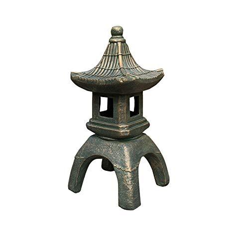 Lampe De Jardin Solaire Zen De Style Japonais - Statue De Lampe De Jardin Solaire - Lanterne Pagode - Oda A B) B bronze