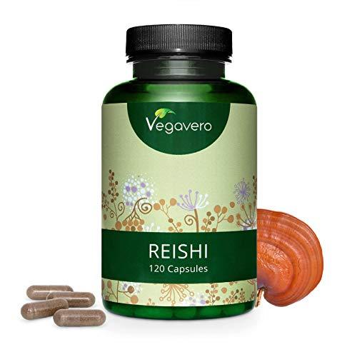 Reishi Vegavero® 4000 mg | Testado en Laboratorio | Antiedad y Piel + Energizante + Estrés + Antioxidante | Adaptógenos | 120 Cápsulas | 20% Polisacáridos | Sin Aditivos | Vegano