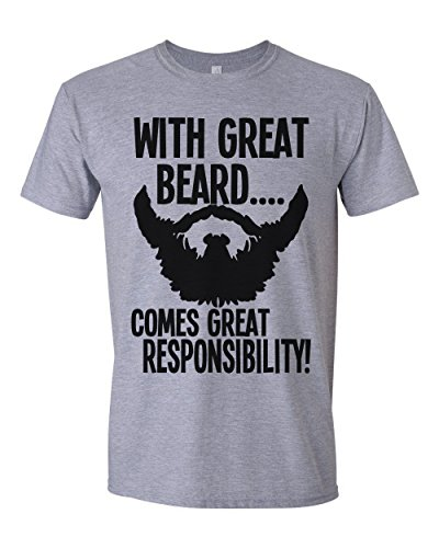 With great beard comes great responsibility mens t-shirt uomo maglietta