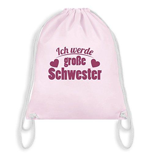 Geschwisterliebe Kind - Ich werde große Schwester - Unisize - Pastell Rosa - WM110 - Turnbeutel & Gym Bag