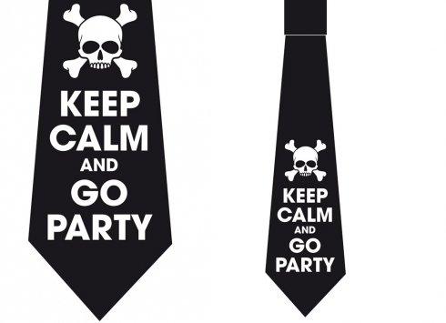 Corbata Keep Calm Calavera