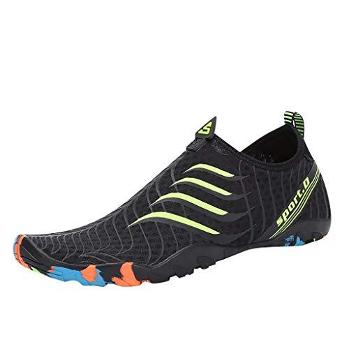 Rovinci Sport-Socken für Tauchschuhe, schnelltrocknend, Strand, Schwimmbad, Surfen, Yoga, Tauchen, Reiten, Reiten, Aquaschuhe Rovinci Paare Männer und Frauen, rutschfeste Schuhe 35 EU 4 Vert -