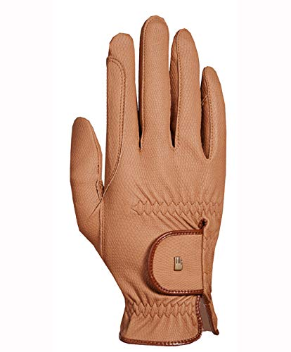 Roeckl -Roeck Grip- Handschuh, Unisex, Reithandschuh, Caramel, Größe 8,5