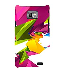 PrintVisa Colorful Modern Art 3D Hard Polycarbonate Designer Back Case Cover for Samsung Galaxy S2