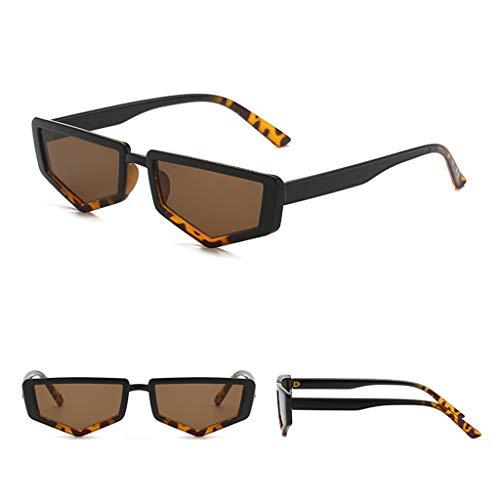 CixNy Damen Herren Polarisierte Sonnenbrille, Unisex Unregelmäßige Punk Stil Hochwertige UV400 Objektiv Metall Rand Rahmen Retro Brille Eyewear Sunglasses Gespiegelte