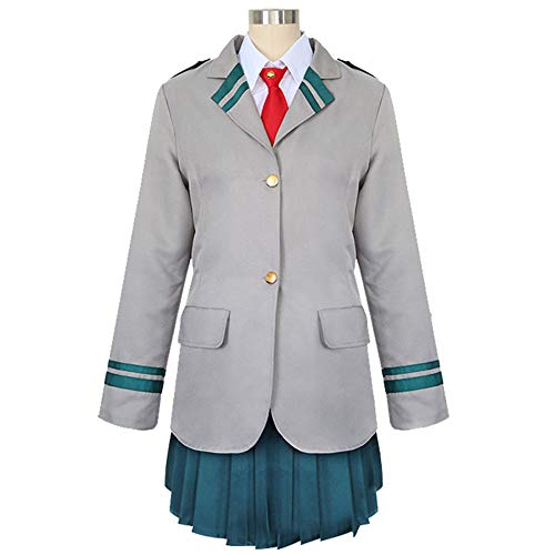 I TRUE ME Erwachsene Ochaco Uraraka/Tsuyu Asui Cosplay Uniform Anime Kostüm japanische (Erwachsene Schuluniform)