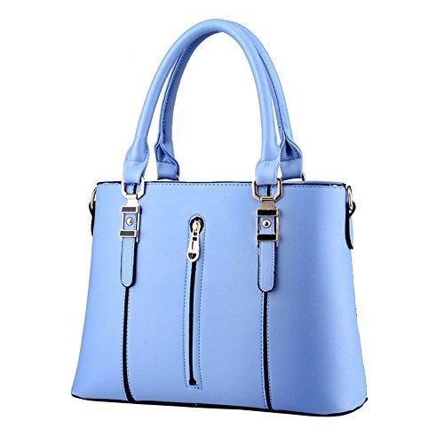 fanhappygo PU Leder Abendtaschen Damen Schulterbeutel Umhängetaschen Sexy Handtasche für Frauen Blau