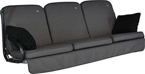 Angerer Primero Style Schaukelauflage Style, Grau, 3-Sitzer (ohne Schaukel)