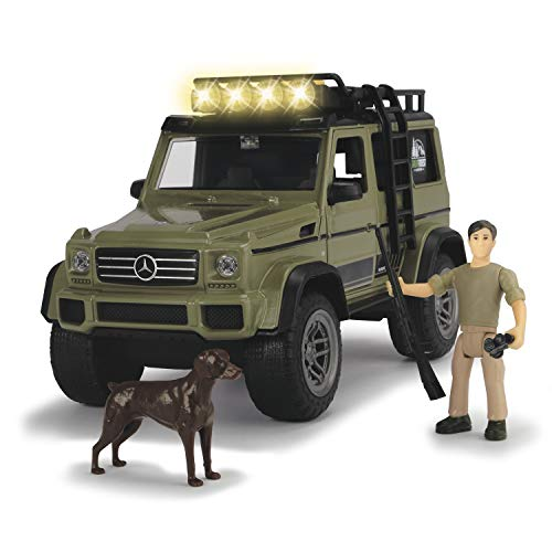 Dickie Toys 203834002 - Playlife Ranger Set, Mercedes Benz AMG Geländewagen inkl. Figuren, 23 cm