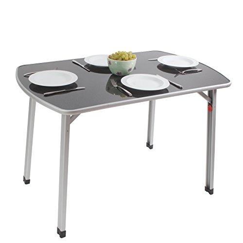 Outdoor Tisch mit verstellbaren Beinen leichtes Aluminiumgestell 110 x 70 cm • Campingtisch...