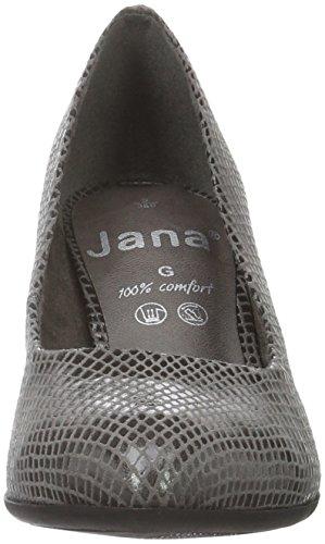 Jana 22401, Scarpe con Tacco Donna Grigio (Grey Pat Struc 297)