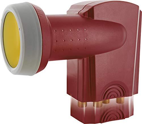SCHWAIGER -418- Quattro LNB mit Sun Protect, digital, für Multischalter, extrem hitzebeständige LNB Kappe, Einsatz mit Satellitenschüssel, multifeed-tauglich mit Wetterschutz und vergoldeten Kontakten