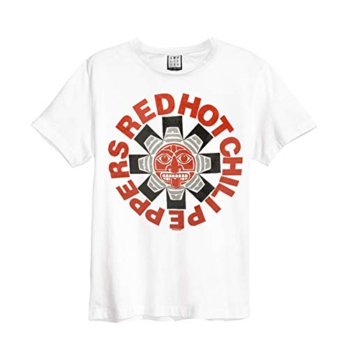 Red Hot Chili Peppers Aztec T-Shirt weiß S Pepper Las Vegas