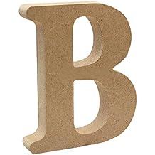 Sharplace Placas de Madera Diseño de Alfabeto Letra Arte Carta Colgante de Pared Adornos de Casa Decoración para Hogar Patio Fiesta Boda de Alta Calidad - B