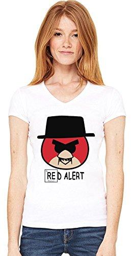 Red Alert V-neck T-shirt