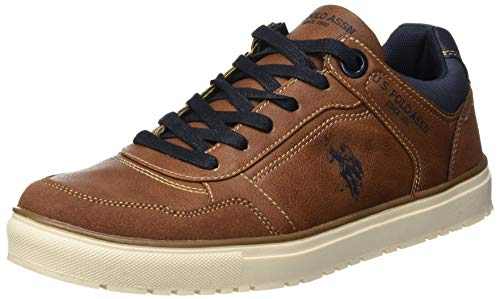 U.S. Polo Assn. VALK Sneaker Uomo, Marrone (Brown BRW) 43 EU