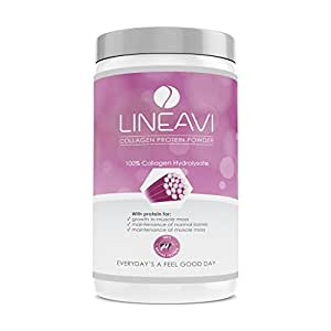 Protéine en poudre au collagène LINEAVI | 100% de collagène hydrolysé de bœuf | fabriqué en Allemagne | le collagène hydrolysat consolide le tissu conjonctif | 410 g